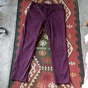 Levi's 511 Burgundy Slim Fit Green Pocket, Dope!